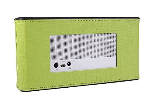 iprotect Kunstleder Schutzhülle für Bose SoundLink 3 III Bluetooth Lautsprecher Wireless Speaker Hülle in grün