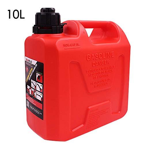 Motto.h 5L 10L Barile per Olio in plastica antistatica Portatile per Auto - Serbatoi di riserva di Carburante - Contenitore per l'arresto Automatico.