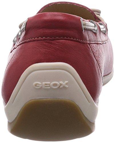 Geox D YUKI A Damen Mokassin Rot (Redc7000)