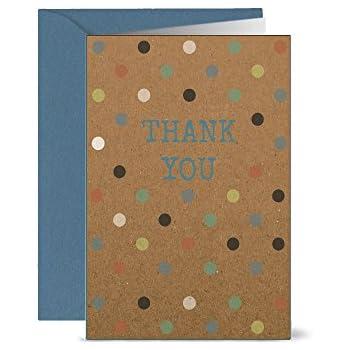 Caroline Gardner PQE110Heart Thank You Notecard Pack of 10