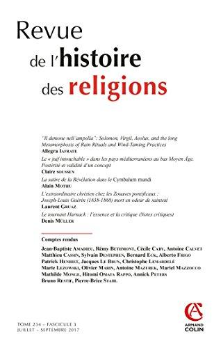 Revue de l'histoire des religions (3/2017) Varia par Collectif