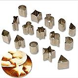 SULUO 15 Teile/Satz Edelstahl Cookie keks DIY Form Stern Herz Poker Form cookit Obst Cutter backform küche zubehör, a