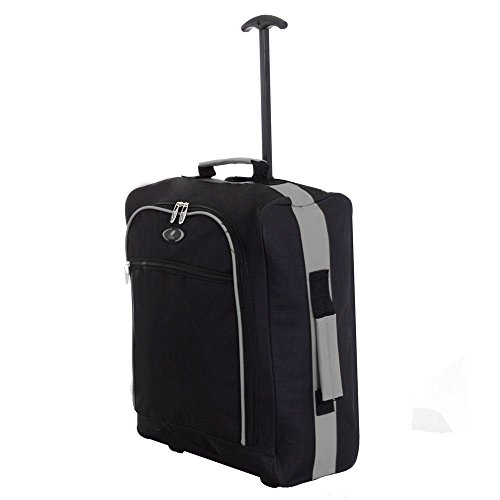 funkytravelbags-new-19-lightweight-black-grey-2-wheeled-pull-along-cabin-size-hand-luggage-travel-ba