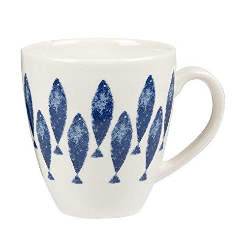 shie Upstream Tasse mit Fisch-Motiv, Steingut, Mehrfarbig ()