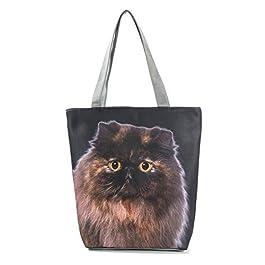 MoGist Borsa da spiaggia da donna, a spalla, graziosa borsa per cani e gatti, modello da viaggio, borsa per la spesa…
