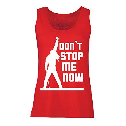lepni.me Damen Tank-Top Don't Stop me Now! Fan Shirts, Musiker Geschenke, Rock Kleidung (Medium Rot Mehrfarben)