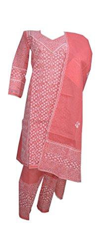 eco haat Vibrant Cotton Embroidered Unstitched Salwar Suit Dress Material [CARPWDM02]