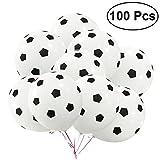 TOYMYTOY Palloncini da calcio 100 pezzi palloncini tondi in lattice da 30cm/12 pollici con spugna da 3,5 g per la decorazione del partito