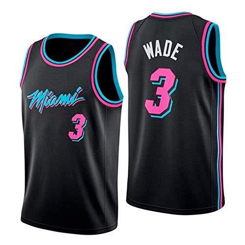 ZAIYI-Jersey Herren Basketball Trikot Dwyane Wade # 3 NBA Miami Heat New Stoff Bestickt Swingman Jersey Ärmelloses Shirt (Color : A, Size : M) Dwyane Wade Jersey