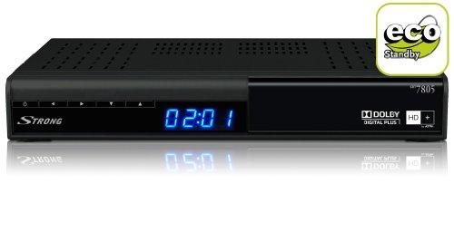 Strong SRT 7805 HD+ HDTV Digitaler Satelliten-Receiver (HD+, DVB-S2, PVR-Ready, USB 2.0, 1x SCART-Anschluss, HDMI, SAT IN, inkl. HD+ Karte für 1 Jahr) schwarz