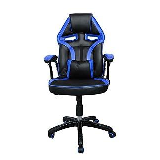 huigou HG Silla giratoria de Oficina Gaming Chair Apoyabrazos Acolchados Premium Comfort Silla Racing Capacidad de Carga 200 kg Altura Ajustable