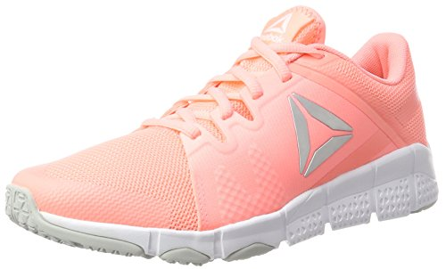 Reebok Damen Trainflex Hallenschuhe, Pink (Sour Melon/Cloud Grey/White/Silver Metallic), 38 EU