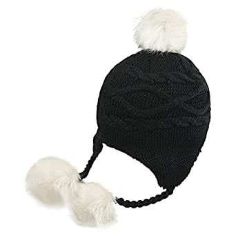 Kids Toddlers Warm Beanie Hat With Ear Flap Girls Boys