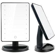 Specchio Cosmetico per Trucco da Tavolo , 16 LED Illuminato