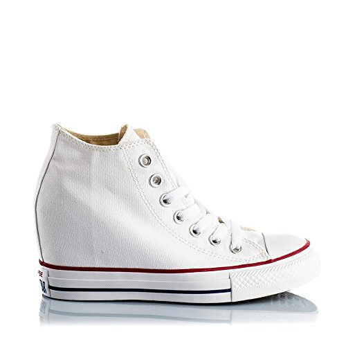 Converse Mid Lux, Baskets Basses Mixte Adulte, Blanc, 36 EU