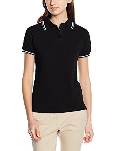 Intimuse Damen Poloshirt, Schwarz (Schwarz), 44 (Herstellergröße: L)