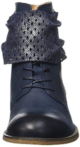 Kickers Punkyzip, Bottes Classiques Femme Bleu (Marine Brillant)