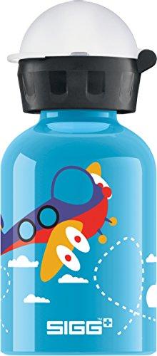 Sigg Jungen Trinkflasche Planes, Blau/Bunt, 300 ml, 8506.4
