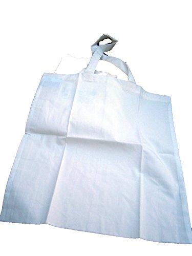 Tragetasche Baumwollbeutel Shopping Bag XL 38 x 42 6er Pack.Baumwolle Cotton weiss Seidenmalerei