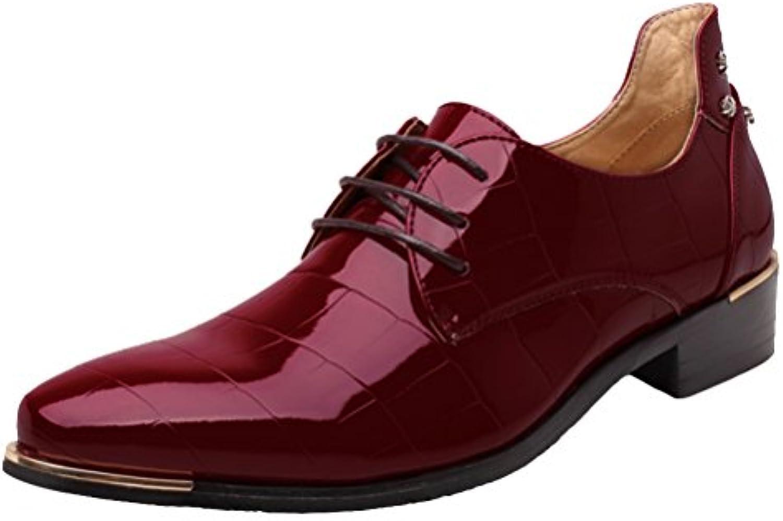 Brinny Männer Anzüge Schuhe / Business Spitz Lace / Hochzeit Schuhe / Neue Casual britischen Derby Lackleder Herren