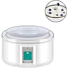 Ksruee 1.5L Máquina para Hacer Yogurt de Acero Inoxidable de Máquina de Yogurt de Vino