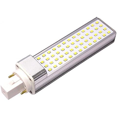G24PLC LED lámpara de tubo de la bombilla de luz del día 85–265VAC 10W–Cablematic