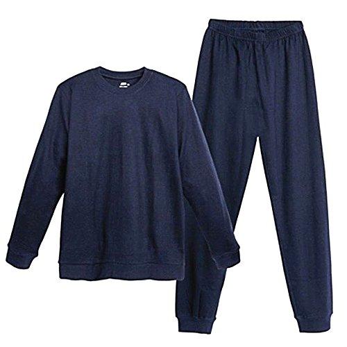 Living Crafts Herren Pyjama 2-teilig aus Bio-Baumwolle