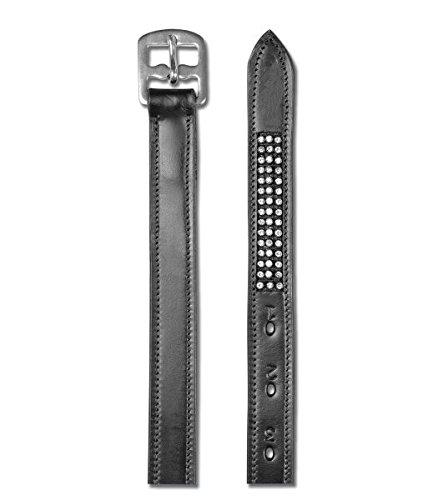 Waldhausen Steigbügelriemen Star mit Strasssteinen, schwarz, 150, schwarz, 150 cm