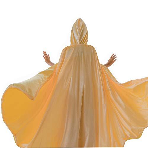 yeesn Mädchen Prinzessin Anna ELSA Belle Sofia Rapunzel Kostüm Umhang mit Kapuze für Halloween Party Cosplay Outfit Winter Bademantel Jacke Gr. Medium, - Anna Kostüm Für Teenager