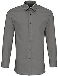 Premier - Chemise de travail en popeline à manches longues et coupe ajustée - Homme