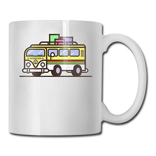 Daawqee Becher Coffee Mug Travel Hippie Bus