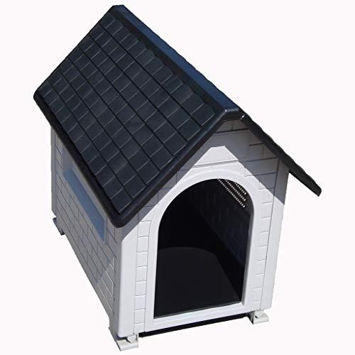 Zwinger Hundehütten Zwingerabdeckungen Haustierbedarf für drinnen und draußen Hundehütte, wetterfeste Hundehütte aus Kunststoff, Katzenstreu, waschbare Hundehütte ( Color : Black , Size : 82*54*70cm )