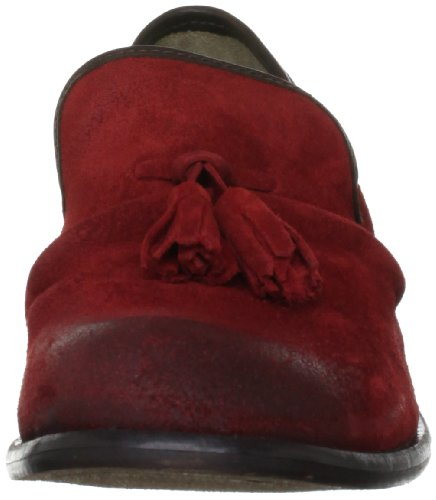 Fly London Wad, Herren Slipper Rot (Red/Dark Brown)