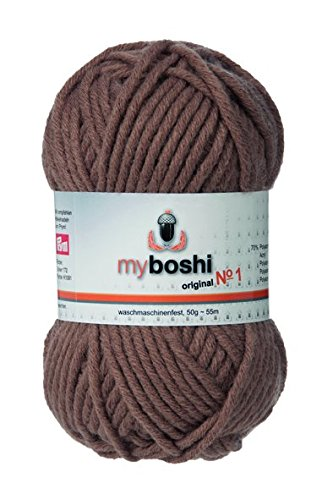 myboshi Häkel-/Strickgarn, Wolle-Mix, ocker