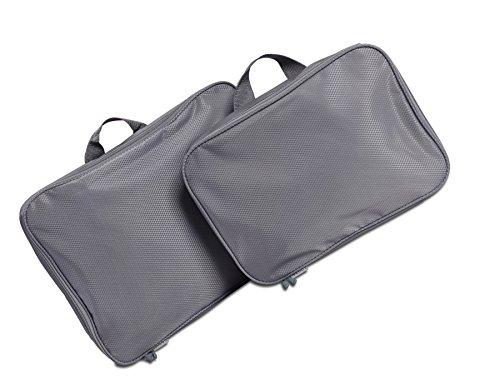 Goods Pack-Set valigetta Organizer per vestiti, piccoli oggetti-2tasche-5pezzi-Multicolore grigio Set 2: 2 Teile, Grau