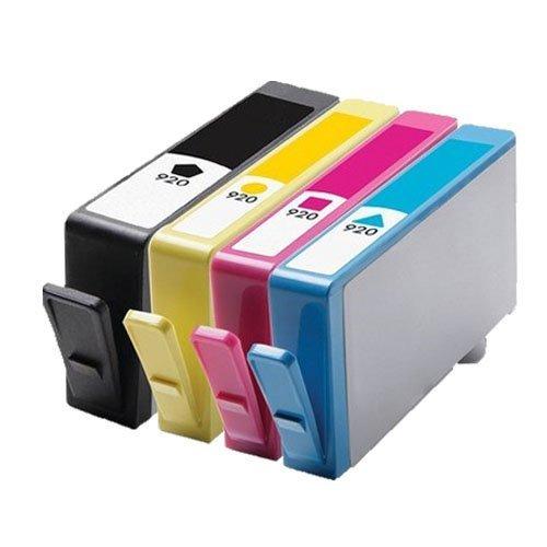4 Cartucce Compatibile per HP 920XL (1x nero + 1x ciano + 1x magenta + 1x giallo) con Chip Cartucce di inchiostro per HP Stampanti OfficeJet 6500 E710 / OfficeJet 6000 / OfficeJet 7000 / OfficeJet 7500A Wide Format / OfficeJet E710a / OfficeJet E710n / OfficeJet 6500A / OfficeJet 6500A plus / OfficeJet 6500 E709 / OfficeJet 7000 Wide Format / OfficeJet 6500 Wireless