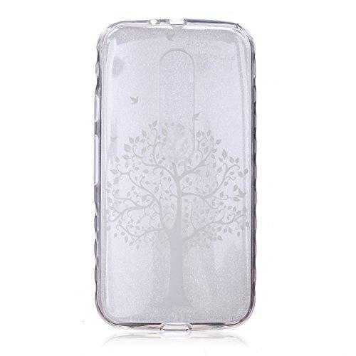 Voguecase® für Apple iPhone 5C, Schutzhülle / Case / Cover / Hülle / Ultra Slim Fit TPU Gel Skin (Kleine Gänseblümchen 05) + Gratis Universal Eingabestift Weißer Baum