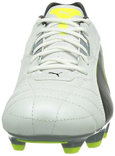 Puma Momentta FG Herren Fußballschuhe Gelb (metallic white-black-fluro yellow-tradewinds 10)