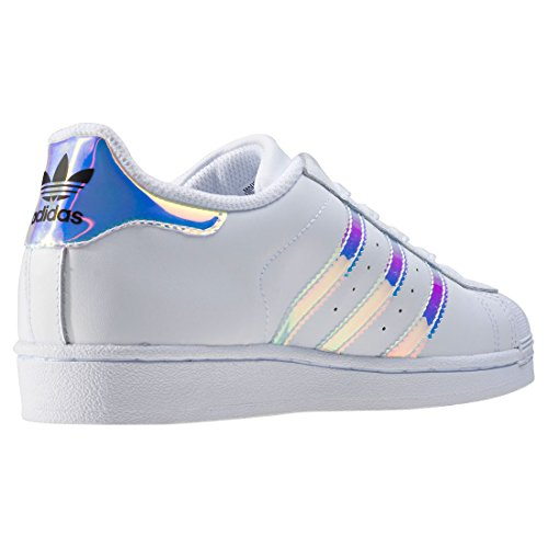 adidas Unisex-Kinder Superstar Low-Top Blanc (Ftwr White/Ftwr White/Metallic Silver Sld)\t