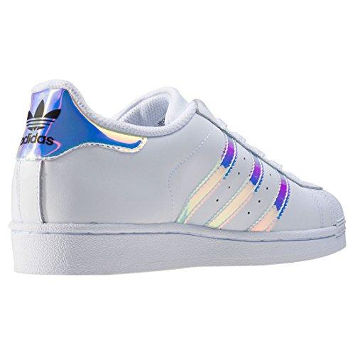 adidas Superstar, Baskets Basses Mixte Enfant Blanc