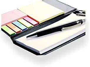 COI Memo Note Pad / Memo Note Book With Sticky Notes & Clip Holder In Diary Style