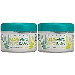 Bionatural Canarias Aloe Vera puro 100% Body / Face Creme 250 ml x 2 Stück