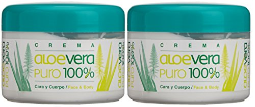 Bionatural Canarias Aloe Vera puro 100% Body / Face Creme 250 ml x 2 Stück