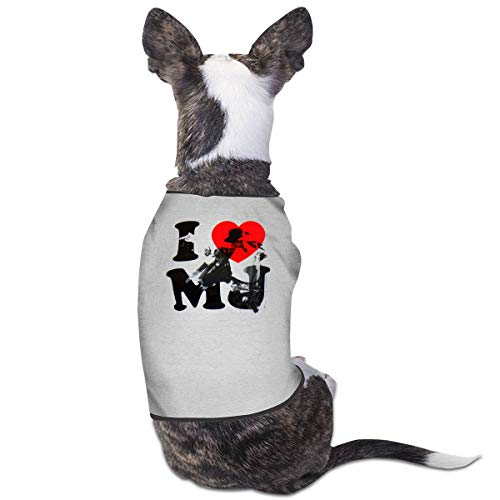 Puppy Baby Love Kostüm - Jiaojiaozhe I Love MJ II Pet Service Pet Clothing Funny Dog Cat Costume Tshirt Gray