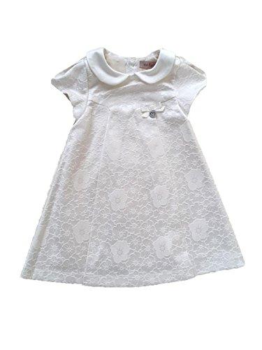 Edel Taufkleid Festkleid Hochzeitskleid Ivory o Rosa (62/68 (3-6M), Ivory)