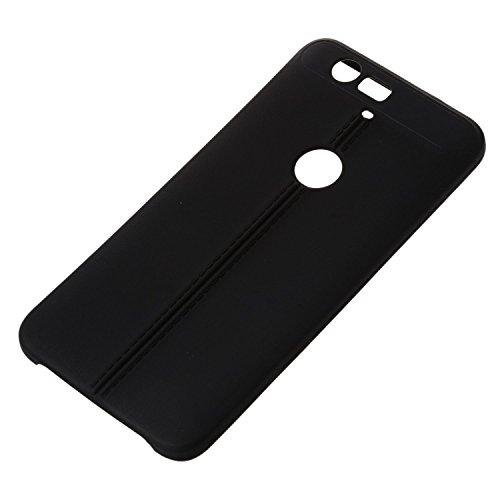 Phone Case - SODIAL(R)New Luxury Ultraduenne Weiche TPU Huelle fuer Huawei Google Nexus 6P Schwarz