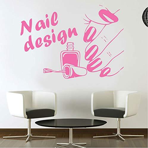Lvabc Nageldesign Salon Vinyl Wall Decal Aufkleber Airbrush Maniküre Business 80X57Cm