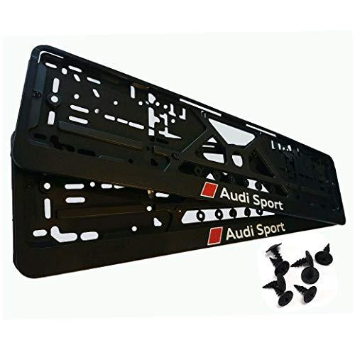 Kennzeichenhalter für Auto 2 Stück set, Nummernschildhalter Sport Nummernschilder mit Montage-Schrauben (EU Standard Grösse 52cm)