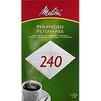 Melitta Pyramiden-Filterpapier 240 G, Weiß, 100 Stück