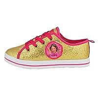 """Sneakers Scarpe Sportive Gold Edition caratterizzate dal rivestimento Dorato con effetto Pailette e Finiture Fucsia. Ideali per ogni occasione, perfette per una serata speciale. Per Vere """"V-Lovers"""""""